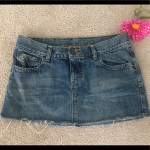 Abercrombie & Fitch Mini Denim Jean Skirt